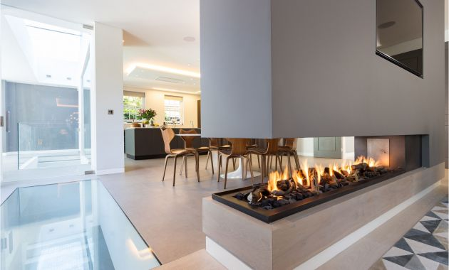 Fireplace Ideas Gas New This Stunning Three Sided Gas Fireplace forms Part Of A Room
