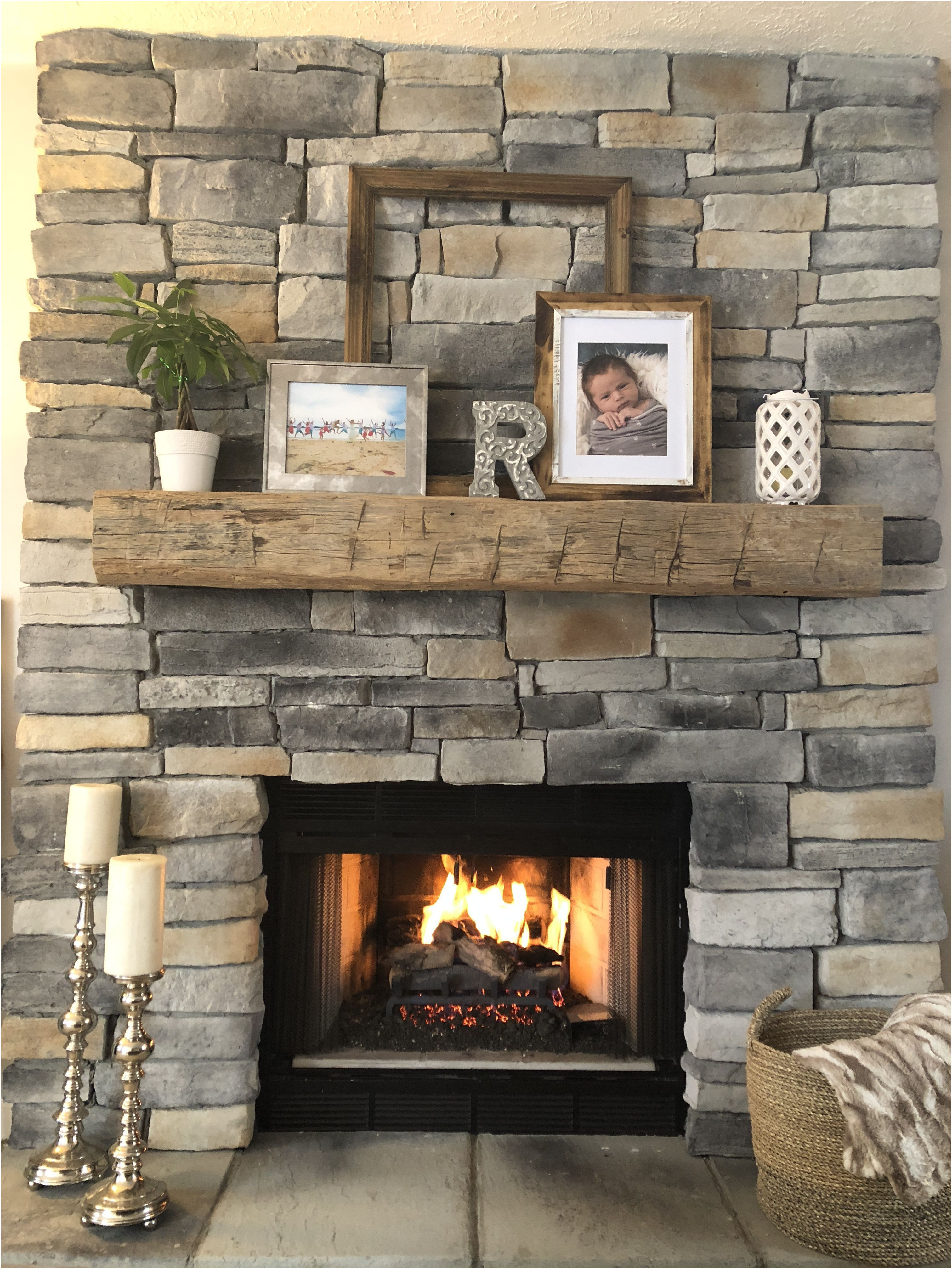 New Fireplace Remodel before and after
