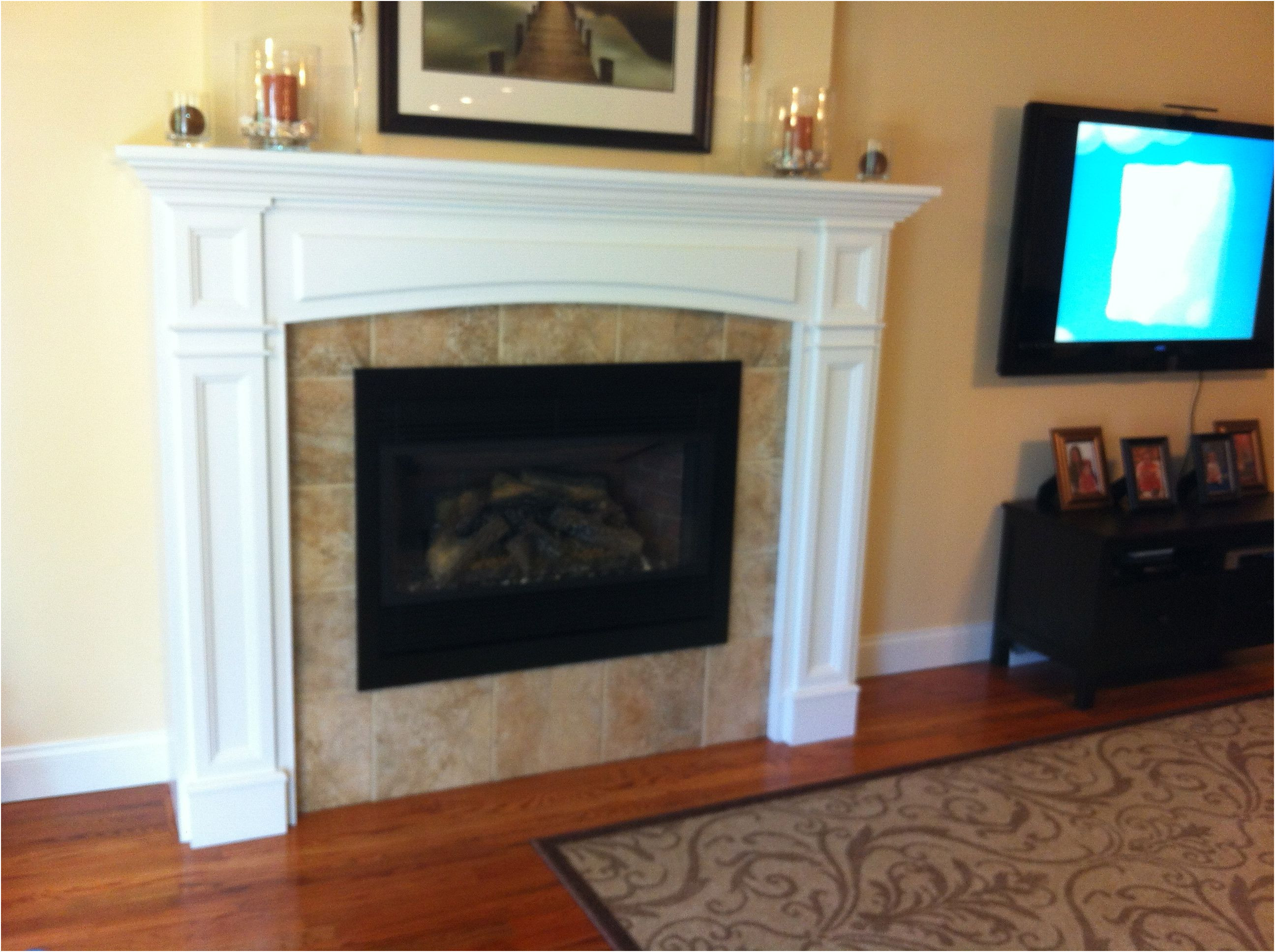 Lovely Fireplace Tile Surrounds Ideas