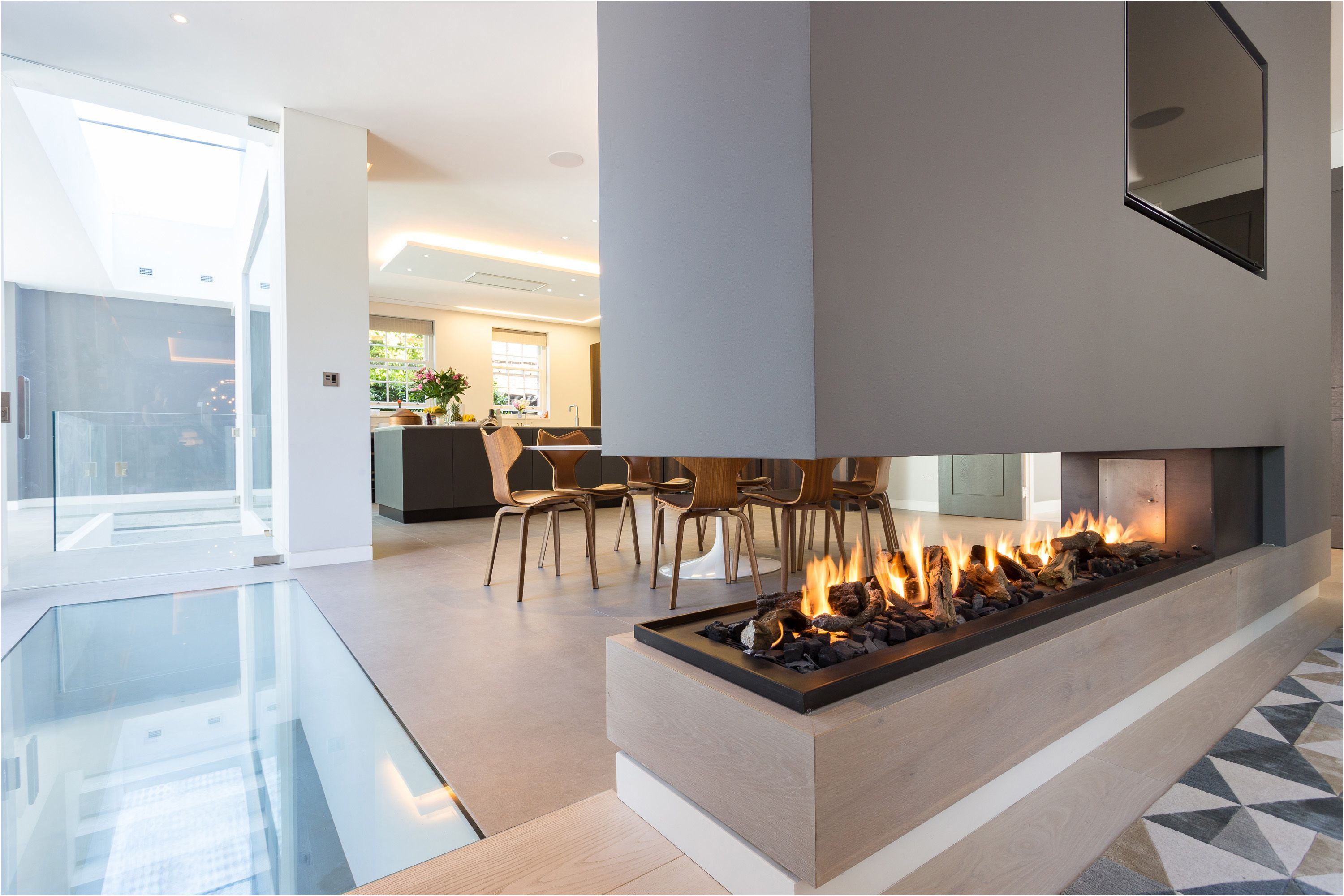Gas Fireplace Idea Lovely This Stunning Three Sided Gas Fireplace forms Part Of A Room