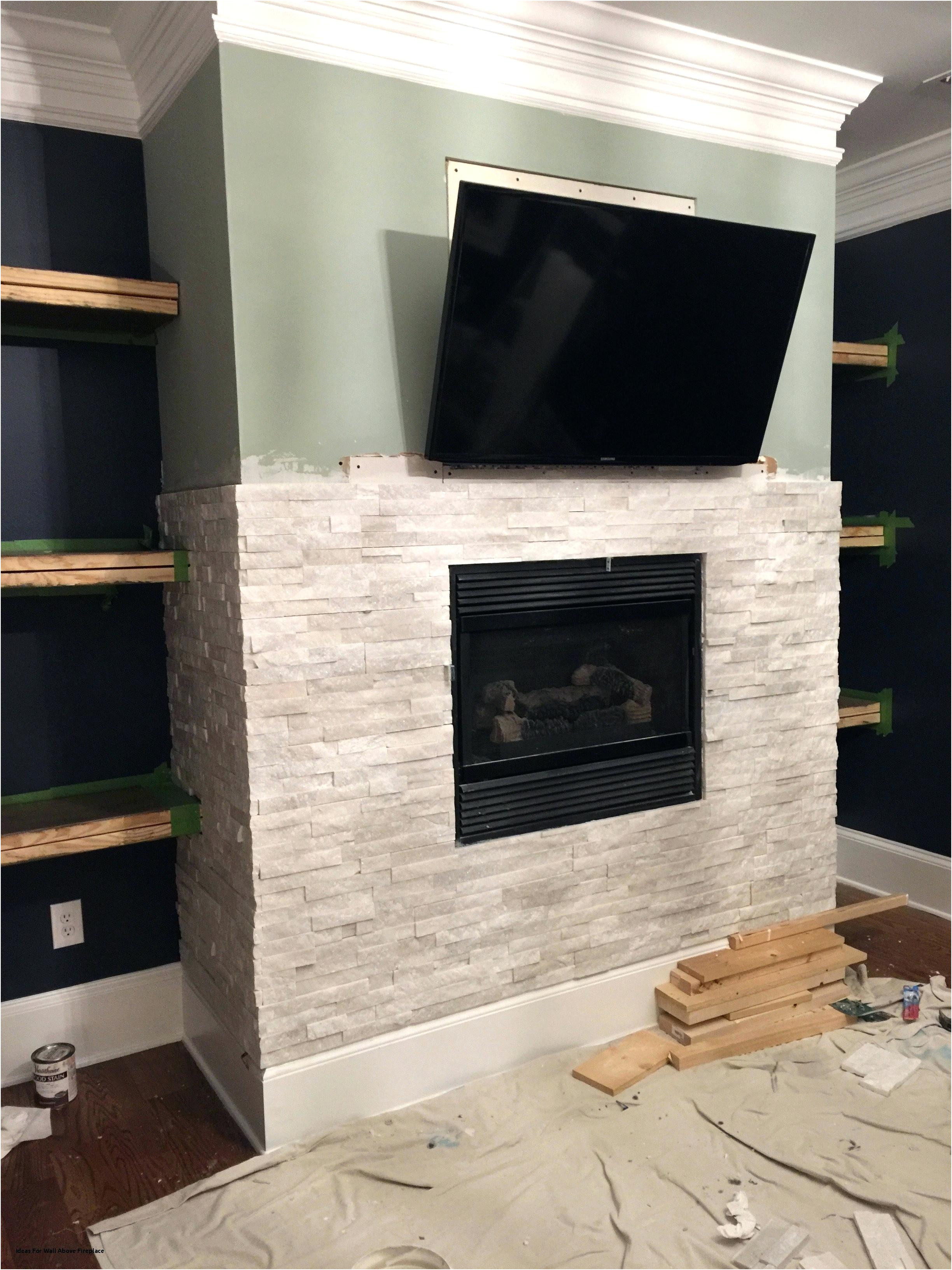 Luxury Gas Fireplace Ideas with Tv Above