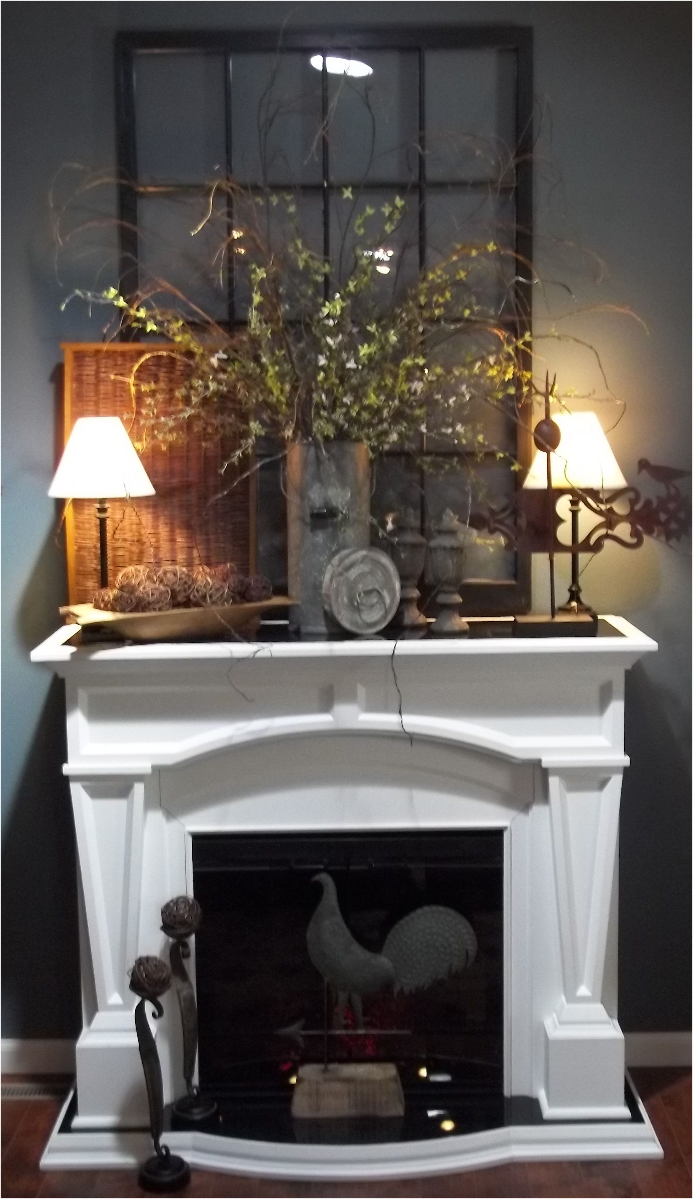 Unique Idea for Fireplace Decoration