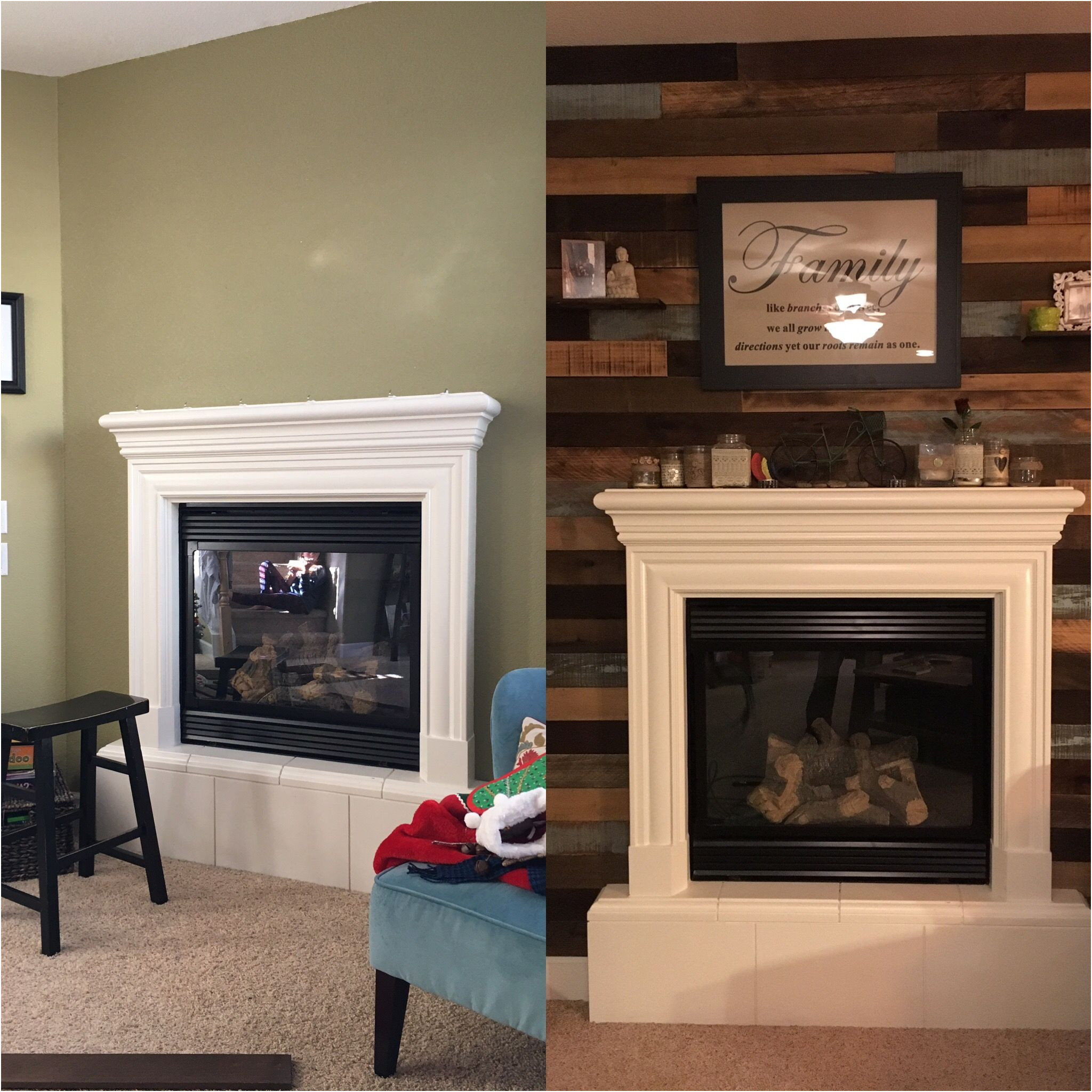 Ideas for Fireplace Wall New Reclaimed Wood Fireplace Wall for the Home