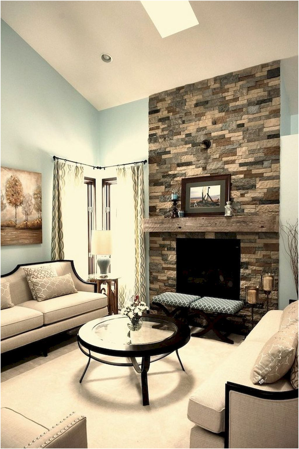 Unique Living Room Designs with Fireplace