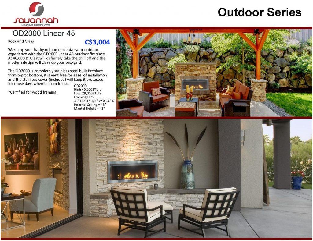 Elegant Outdoor Fireplace Idea