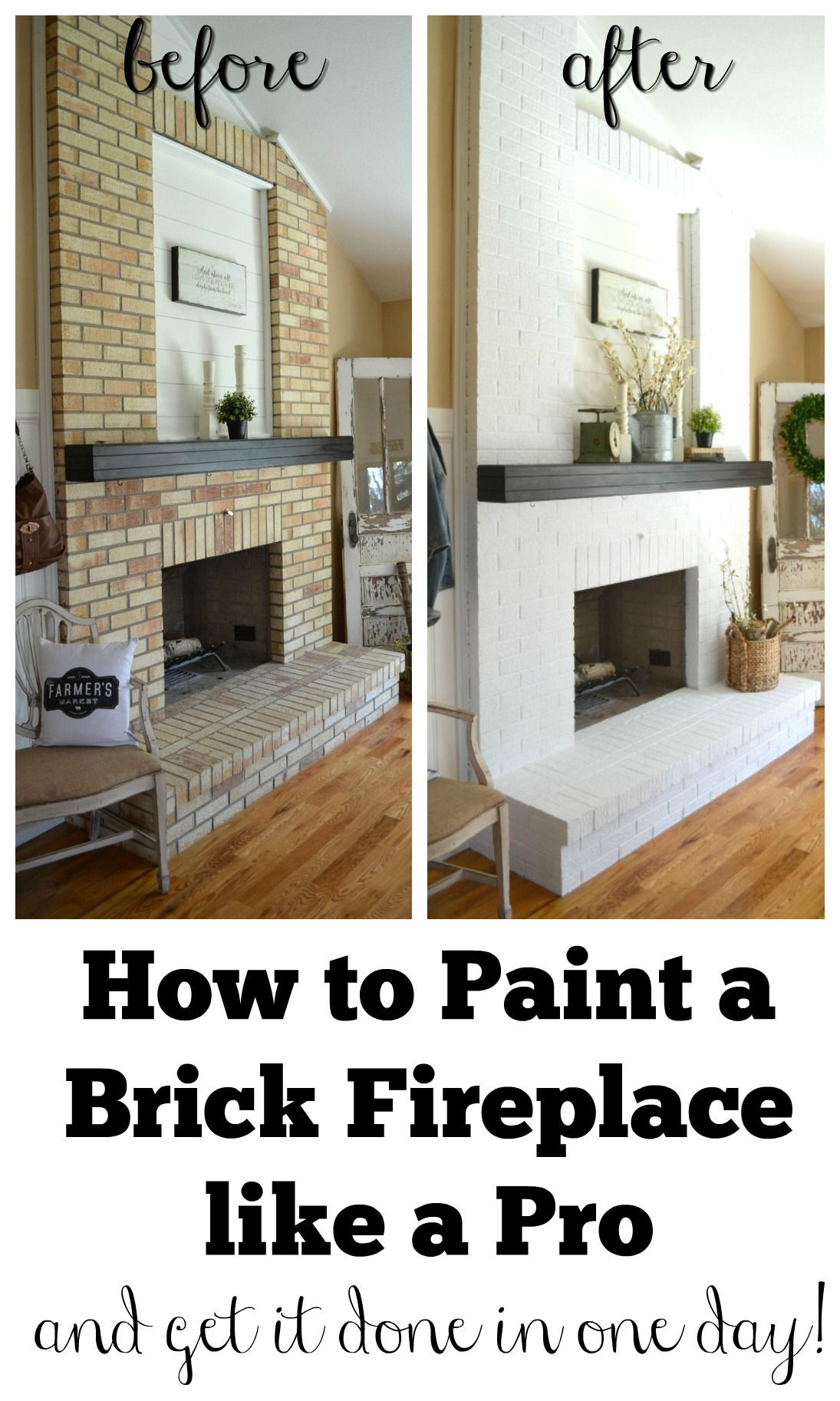 Awesome Paint Brick Fireplace Ideas