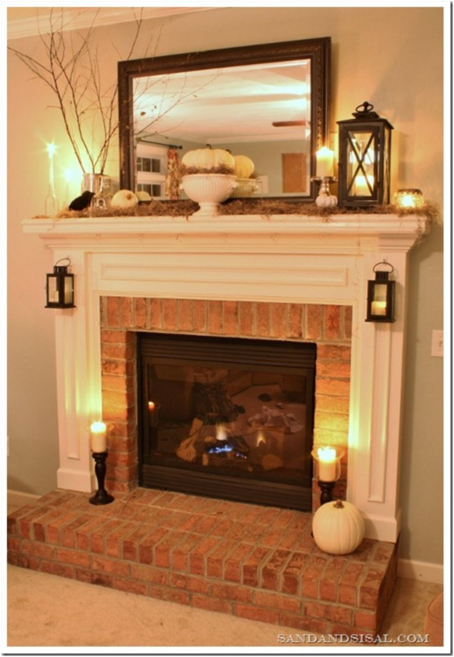 Awesome Remodel Brick Fireplace