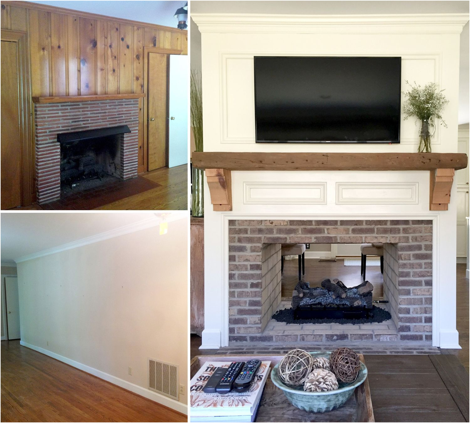 Remodeling Fireplace before and after Elegant Fireplace Renovation Converting A Single Sided Fireplace to
