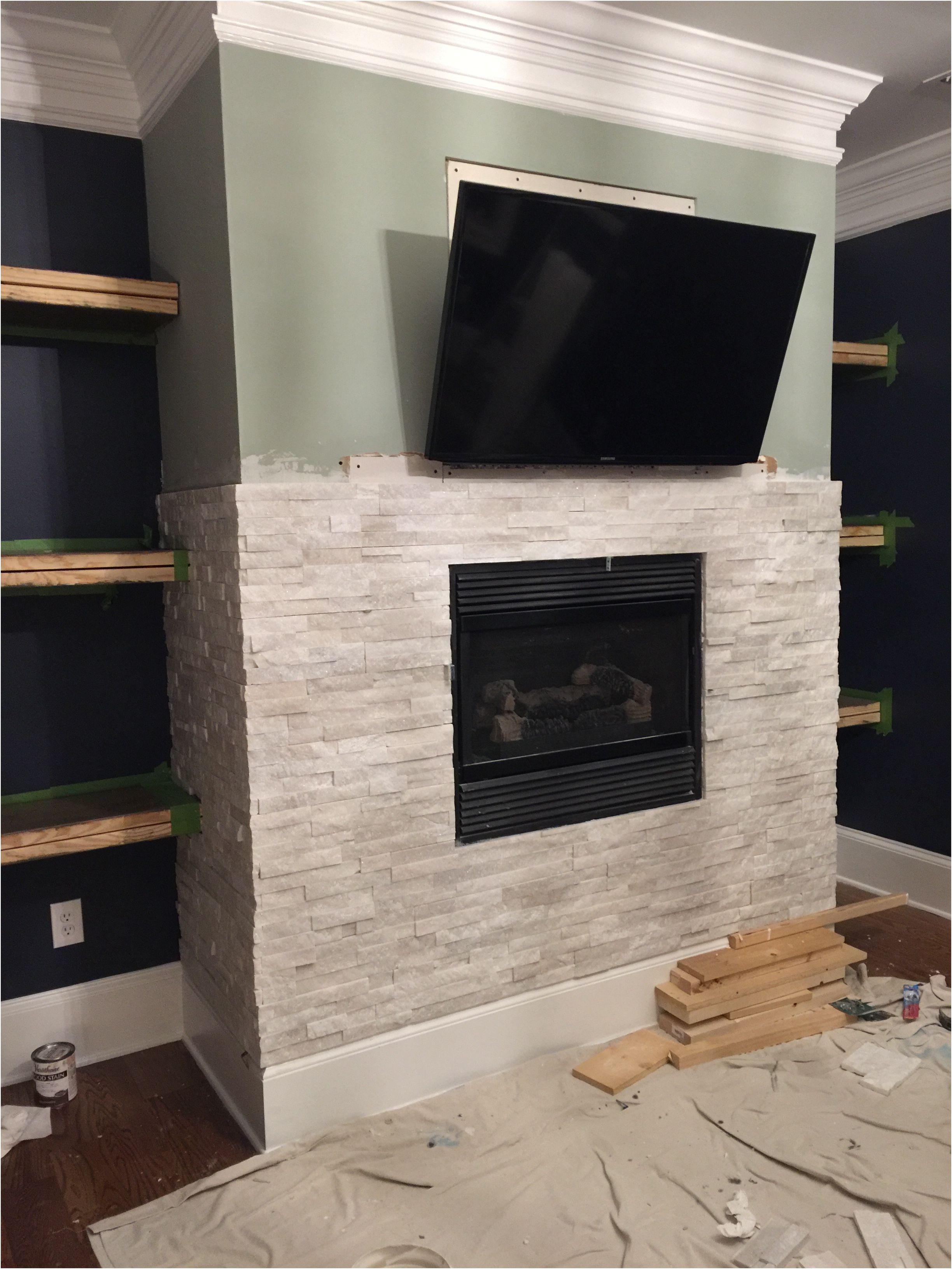 Luxury Stacked Stone Fireplace Ideas