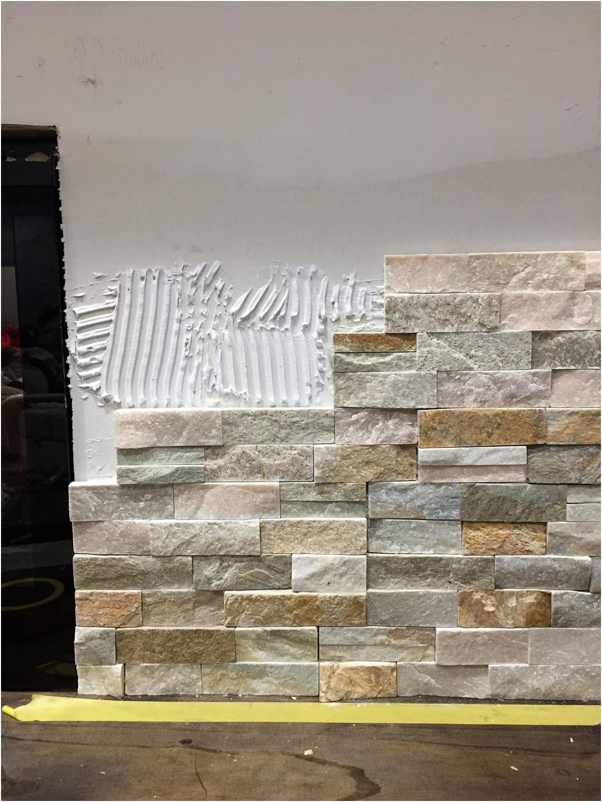 Stacked Stone Fireplace Ideas Lovely How to Install Stacked Stone Tile On A Fireplace Wall
