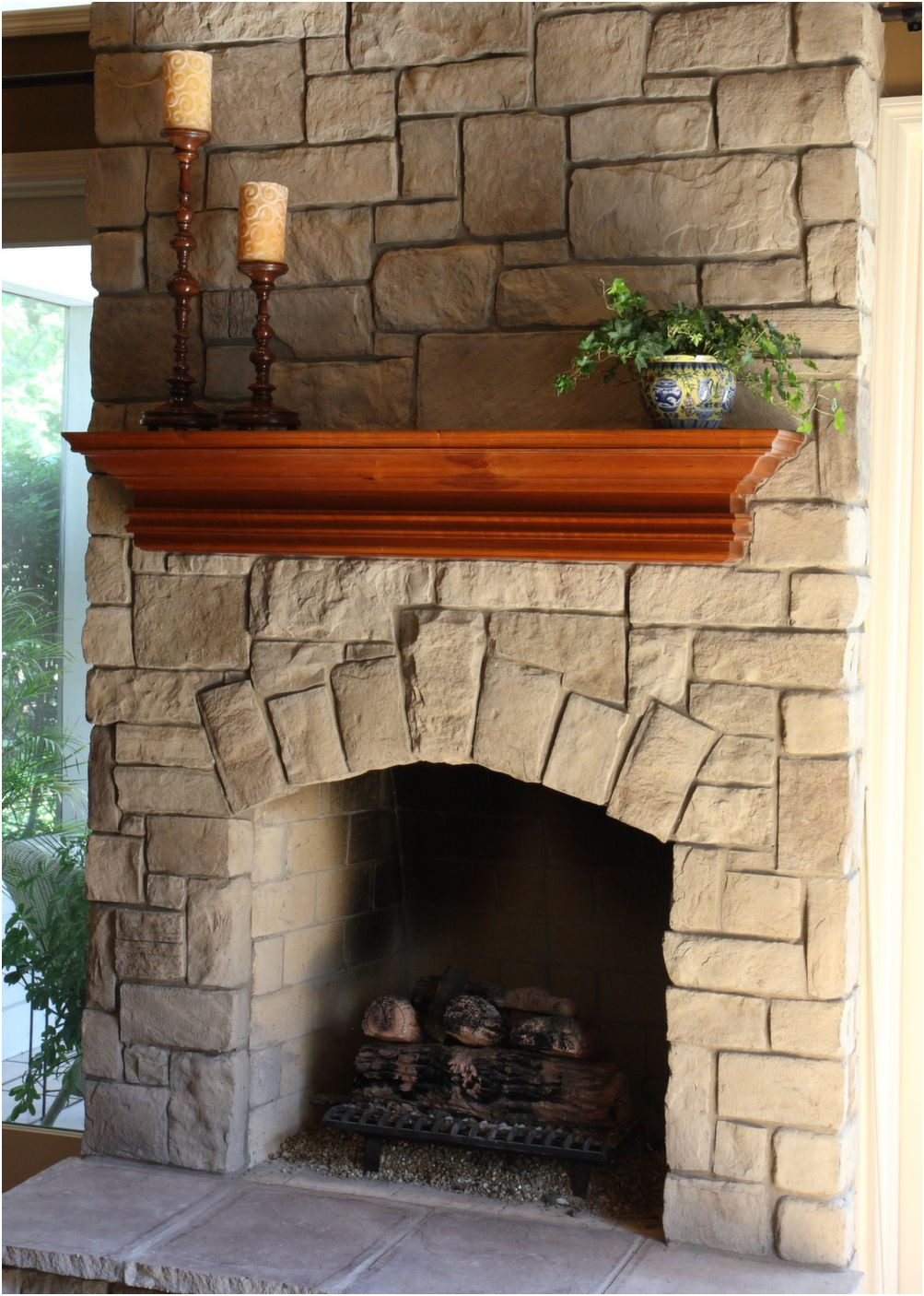 Elegant Stone Ideas for Fireplace