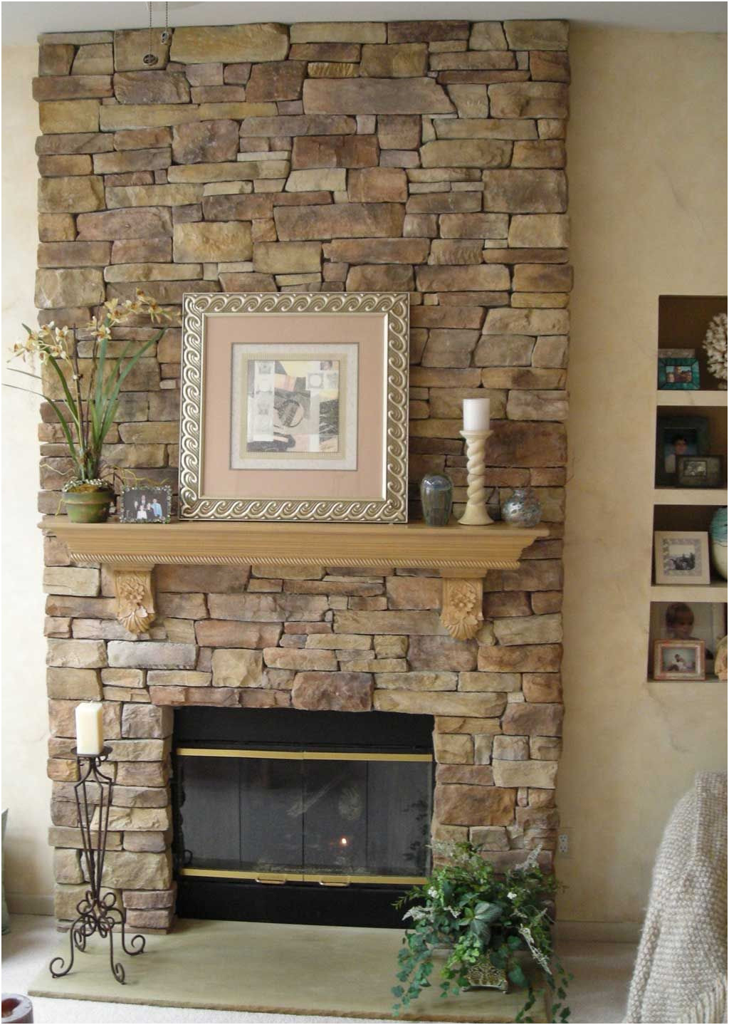 Stone Ideas for Fireplace Unique Stone Veneer Fireplace Design Fireplace In 2019