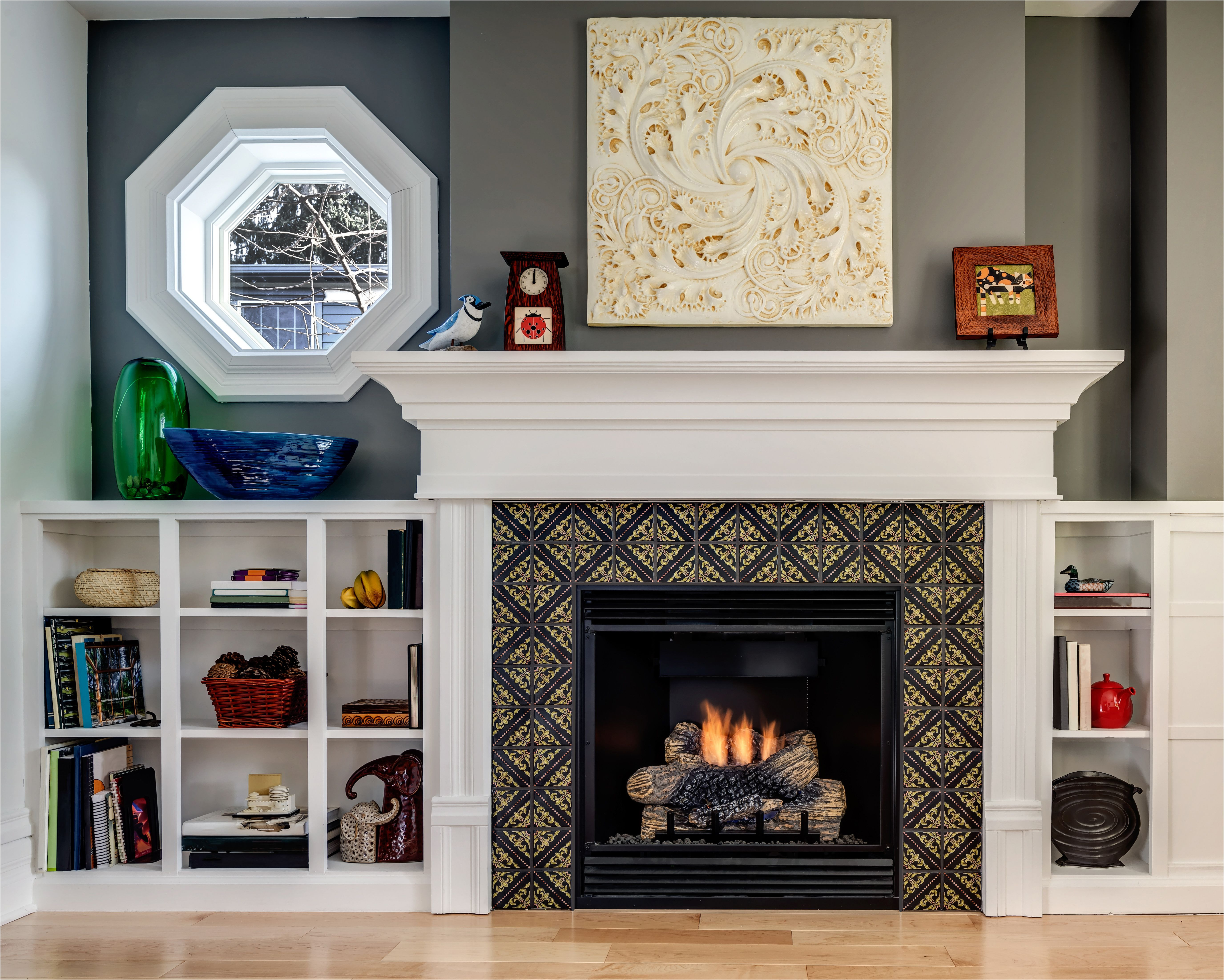 Tile Fireplace Designs Photos Inspirational This Small but Stylish Fireplace Features Our Lisbon Tile