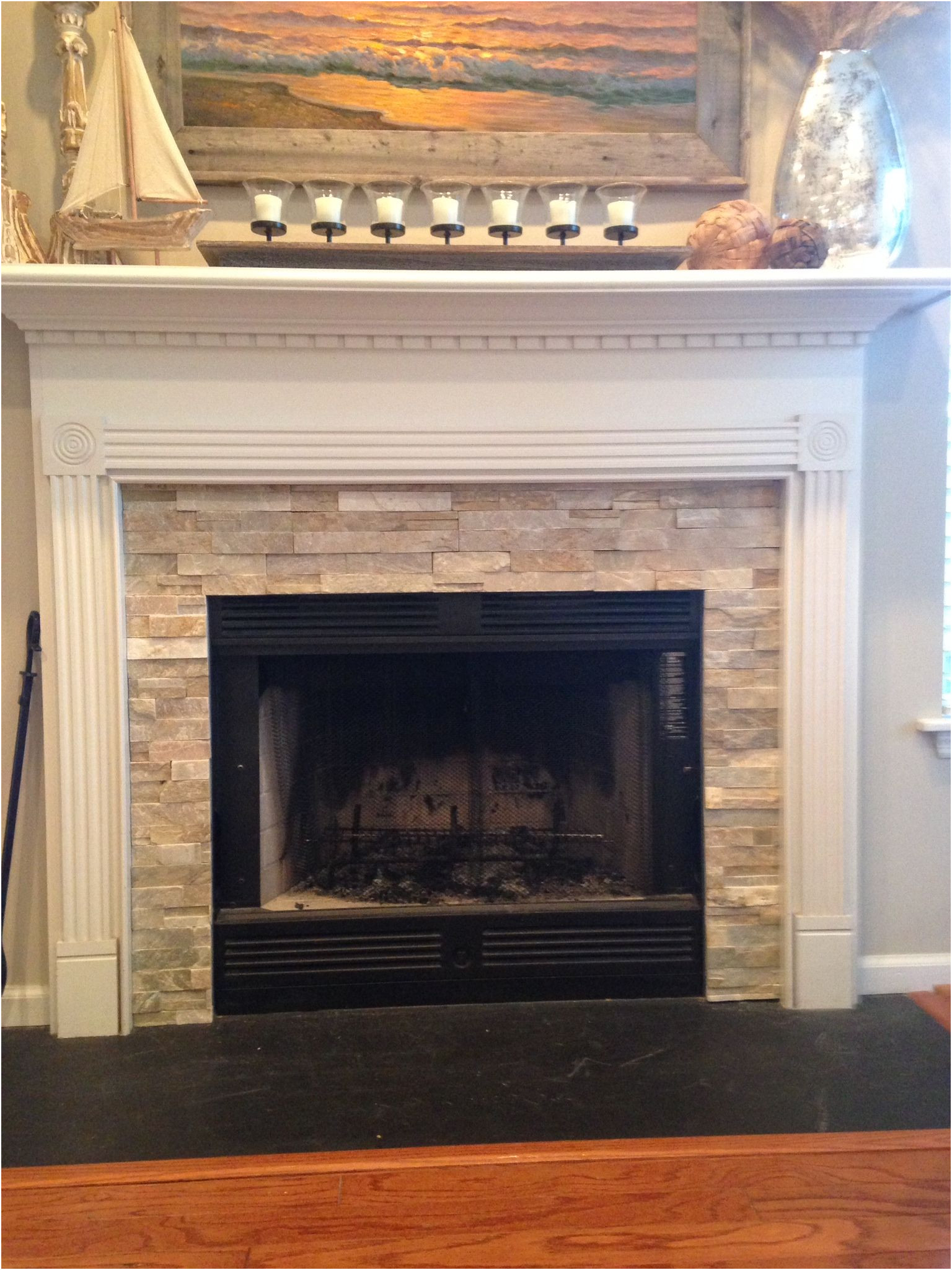 Tile Fireplace Surrounds Ideas Awesome Fireplace Idea Mantel Wainscoting Design Craftsman