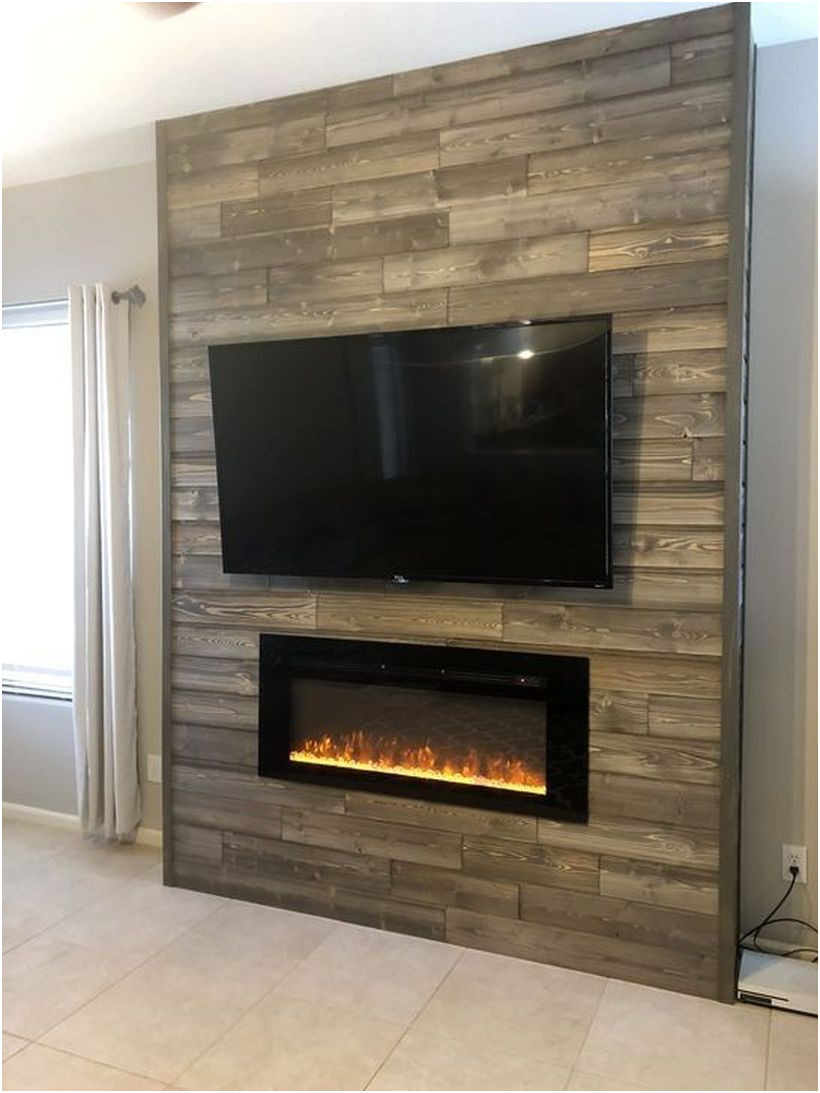 Wall Mounted Fireplace Ideas Luxury 46 Rustic Tv Wall Design Ideas for Home